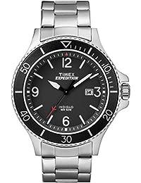 Timex TW4B10900 Herren-Armbanduhr mit Quarz-Uhrwerk, Analoganzeige und Edelstahl-Uhrenband.
