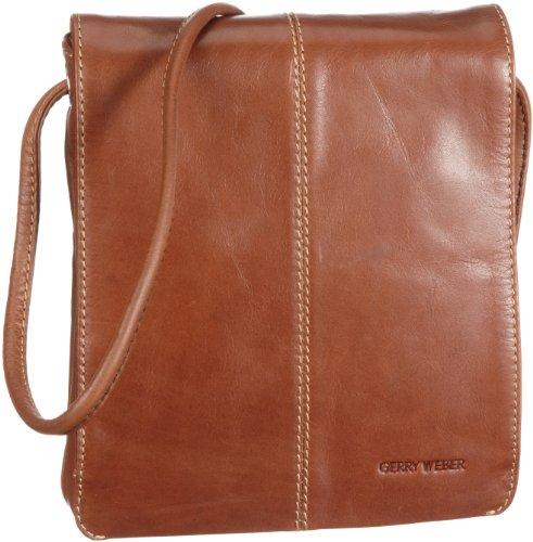 GERRY WEBER Cambridge II Flap Bag S 08/00/01498, Damen Umhängetaschen, Beige (cognac 780), 18x20x4 cm (B x H x T) (Flap Bag Klassische Handtasche)