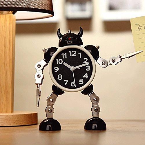 YEHUITAI Verformungs-Roboter-Wecker-kreativer Studenten-Kleiner Wecker Nette Karikatur-Wecker-Tischuhr-Taktgeber-Metallalarm der Karikatur-Kinder