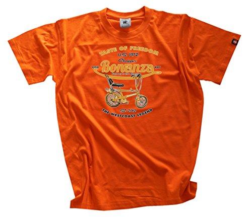 shirtzshop-messieurs-taste-of-freedom-bonanza-velo-chopper-t-shirt-xl-orange-orange