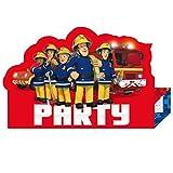 Feuerwehr Mann Sam Kindergeburtstag Einladungskarten 8 Stück inkl. Umschlag amscan 9902184