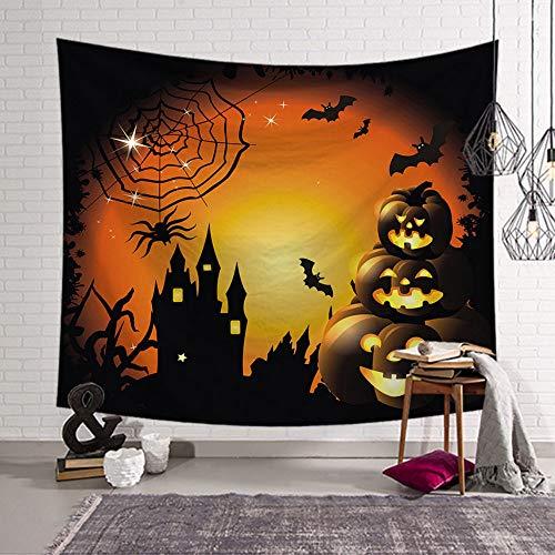 Rjjdd Halloween Fledermaus Wandteppich Stoff Wandbehang Wandteppich Decke Wandteppiche für Wohnzimmer Schlafzimmer Bauernhaus Dekor schwarz-150X100cm (Für Halloween-makeover Mädchen)