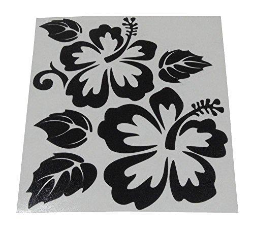 AERZETIX: Pegatina de vinilo flor para coche de interior y exterior (Negro)