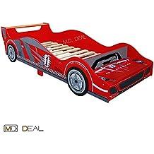 Baby–Cama infantil coche cama Carreras 140x 70Incluye somier madera