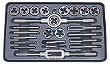 Juego de machos y terrajas de roscar 24 piezas en estuche metálico