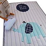 VClife® Baumwolle Teppich Kinderzimmer Spielteppich Kinder Baby Krabbeldecke Süße Maus Geschenk Schlafzimmer Wohnzimmer Yoga Balkon Studiozimmer 140 x 200cm Elefant