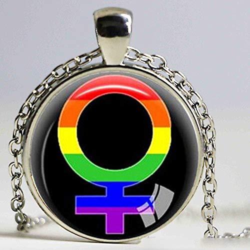 mit gleichem Sex LGBT Schmuck Gay Lesbian PrideWith Rainbow Love gewinnt Geschenk Gleiche Sex Ehe ()
