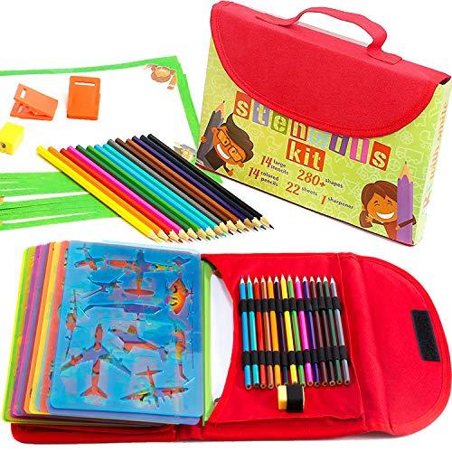 Kit Formine Grande per Bambini 54-Pezzi| Set per attività Divertenti da Viaggio, Valigetta con più di 280 Formine, Lavoretti Artistici per Bambini e Bambine, Gioco Educativo Creativo dai 3 ai 10 Anni