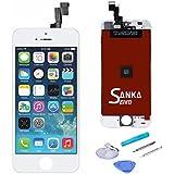 SANKA LCD Pantalla Táctil con Marco de Digitalización Asamblea Pantalla de Recambio para iPhone SE - Blanco