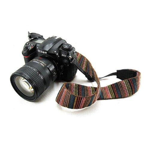Beiuns universal weiche Farbstreifen Kameragurt Trageriemen Kamera Gurt Schulter Strap Belt Tragegurt Schultergurt Neck Gürtel für Einzel DSLR SLR Camera von Leica NIKON Sony Canon Olympus Pentax usw. - 2