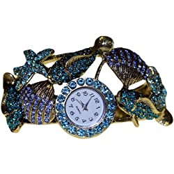 Bracelet Watch Shell Encrusted