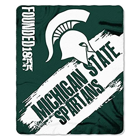 Northwest NCAA Michigan State Spartans Painted Printed Fleece 50