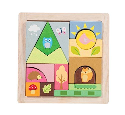 Petilou Le Toy Van Woodland Puzzle Blocks