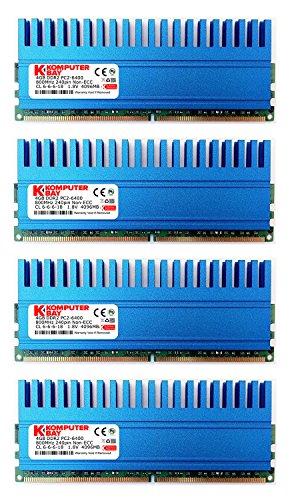 Komputerbay 16GB (4x4GB) DDR2 DIMM (240 Pin) 800MHZ PC2-6400 PC2-6300 16 GB KIT mit Crown Series Heatspreader für zusätzliche Kühlung CL 5-5-5-12 -
