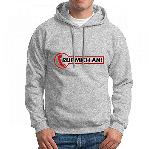Ruf Mich an Long Sleeve for Men Custom Hoodie Sweatshirt