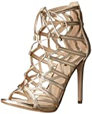Guess Women's Anasia2 Platform Dress Sandal, Gold, 9.5 M US