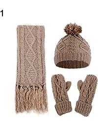 Amazon.es  pompones de lana - Verde   Gorros de punto   Sombreros y ... a07eb3536a5