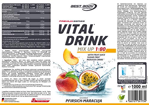 Best Body Nutrition Vital Drink, 1000ml Flasche - 5