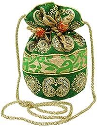 Handgemachte Potli Tasche Lange Hochzeitsbevorzugungsgeschenk indische Partei Clutch