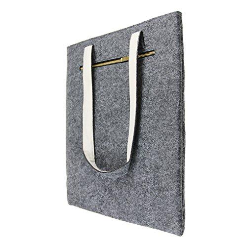 Laptotasche aus Filz Hülle Handtasche Notebooktasche Aktentasche Henkeltasche Ultraleicht für Laptop Notebook iPad Tablet bis 16 Zoll-HELLGRAU Dunkelgrau 16 Zoll