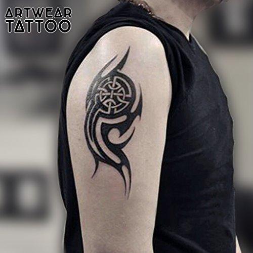 "Tatuaje temporal realizado por un artista ""New Tribal 3"" - ArtWear Tattoo – B9940 M"