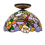 European Pastoral Tiffany Stil Buntglas Dining Restaurant Schlafzimmer Bad Blue Light
