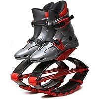 Bouncing Jump Shoes Zapatos De Salto Rebotadora Zapatos Elásticos Auxiliar Largo Largo Adulto Niños Deportes Mejor Regalo para Niños Niñas,Red,XS