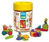 Seek'o Blocks - Jeu de Construction 1er âge - Seek'o Blocks Multicolore - Baril Ferme avec personnages 100 Pièces - BA4004