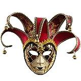 Mascarilla veneciana romana griega para Halloween, disfraces, fiestas, decoración, suministros máscara con personalidad carnaval maquillaje rosso