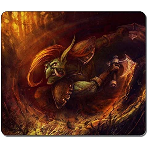 Gaming Mouse Pad, Extra Large Mouse Mat 12.87x11.02x0.15 IN, Customize Dota 2 Troll Natural Eco Rubber Oblong MousePad Computer Desk Stationery Accessories Mouse Pads For Gift by Fun Custom Online