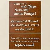 Metall Schild Rostoptik Gartensprüche 40x20cm Wandschmuck Gartendeko Tafel - 1 Stück (Gärtnern ist mein Yoga)
