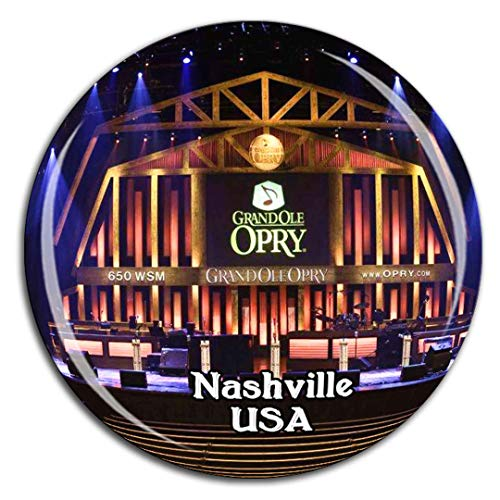 Weekino Grand Ole Opry Nashville Amerika USA Kühlschrankmagnet 3D Kristallglas Tourist City Travel Souvenir Collection Geschenk Stark Kühlschrank Aufkleber