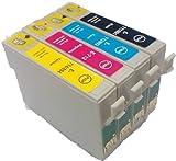 Set mit 4x T0715kompatible Drucker-Patronen für Epson Stylus D78, D92, D120, DX4000, DX4050, DX4400, DX4450, DX5000, DX5050, DX6000, DX6050, DX7000F, DX7400, DX7450, DX8400, DX8450, DX9400F, S20, SX100, SX105, SX200, SX205, SX400, SX405, SX515W, SX600FW, SX610FW, BX600FW, B40W, BX300F