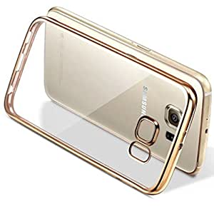 Oppo A37-A37F SmartLike Premium Series Gold Electroplated Silicon Transparent Back Cover for Oppo A37-A37F