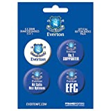 EVERTON FC 1 - BADGE PACK - PACK OF 4 X 38MM BADGES - BRAND NEW