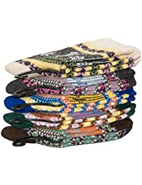 CrazySell Women's Super Thick Soft Comfortable Crew Socks Wool Thick Winter 5-pack Mix Colors