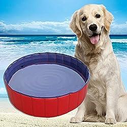 YITOO Perros bañera respetuoso con el medio ambiente mascotas Pool de baño para mascotas Natación Pool, diámetro 120cm, altura 30cm, PVC
