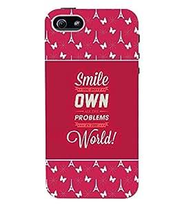 Fuson 3D Printed Quotes Designer back case cover for Apple I Phone 5 / 5S - D4276