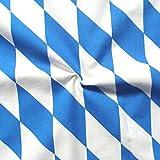 STOFFKONTOR 100% Baumwollstoff Bayern Raute Meterware Blau-Weiss