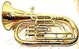 Euphonium Messing polnischen 3Ventil Euphonium Tuba & Mund Stück mit Tragetasche