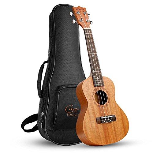 Hricane Konzert Ukulele UKM-2 23 Zoll Traditionelle Mahagoni Ukulele Hawaiische Gitarre mit Groß Tasche [Konzert]