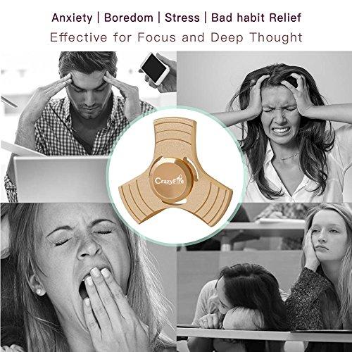 Antistress Fidget Spinner,CrazyFire Tri Fidget Mano Dito Spinner,Spin Widget Focus Giocattolo Ansia Stress Noia Passatempo per Ragazzi ed Adulti - 6