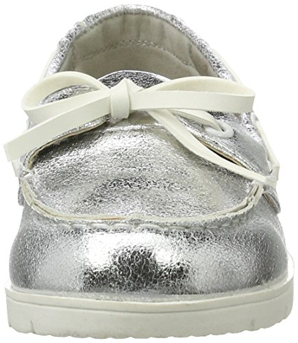 XTI - Silver Metallic Ladies Shoes ., Mocassini Donna Argento (Silver)