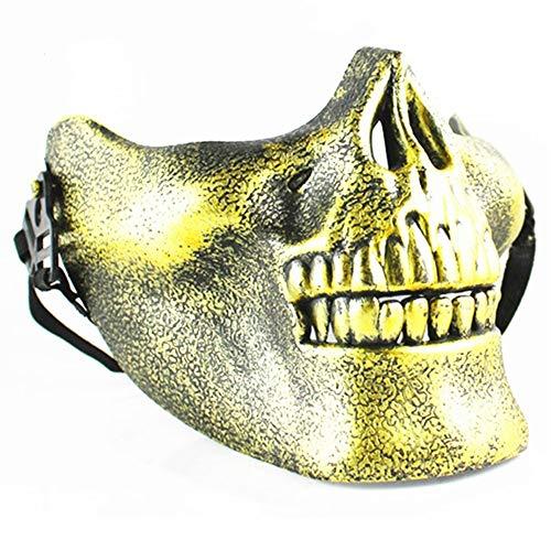 be Gesichtsmaske, Motorrad Halbe Gesichtsmaske für Maskerade Halloween Maskerade Party ()