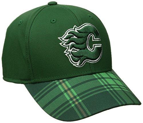 Reebok NHL Herren Mütze NHL Sp17 St. Patrick's Day Structured Flex Hat, Herren, NHL SP17 St. Patrick's Day Structured Flex Hat, grün, Large/X-Large -