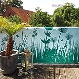 Videx-Balkon-Bespannung Springtime, türkis, 90 x 300cm