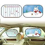 JuguHoovi Auto Sonnenschutz für Baby, 2 Stück Selbsthaftende Autofenster Sonnenblende für Kinder mit UV Schutz/Blendschutz, Auto Sonnenschutz Zubehör für Seite Heckscheibe Fenster