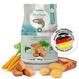 AniForte Natürliches Hunde-Futter Trockenfutter Fjord-Salmon 15kg, Frischer Lachs mit Kartoffeln, 100% Natur, Allergiker, Getreide-Frei, Glutenfrei, Ohne Chemie, künstliche Zusätze und Vitamine