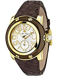 Glam Rock SummerTime Damen-Armbanduhr 40mm Armband Leder Braun Schweizer Quarz Analog GR40045N
