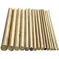 15 piezas 2-8 mm barra de latón relojero torno DIY reloj herramientas piezas de artesanía 100 mm de longitud
